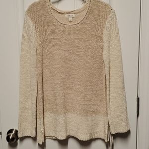 NWT Style &Co. Cream Color Sweater.